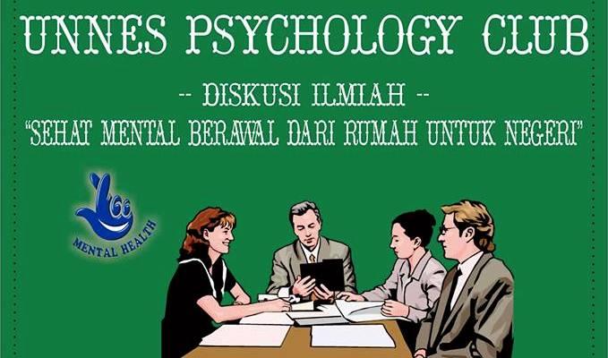 Sabtu besok, Unnes Psychology Club Akan Bahas Kesehatan Mental