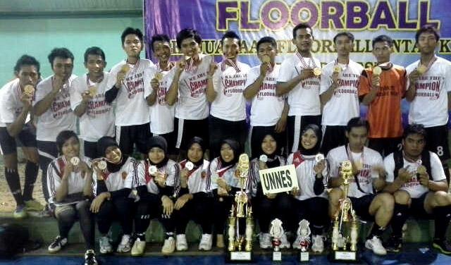 Unnes Borong Prestasi Kejuaraan Floorball se-Indonesia