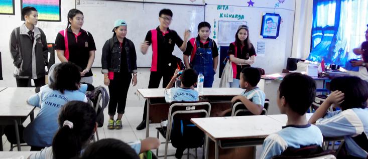 Mahasiswa Thailand Kunjungi SD Labschool Unnes