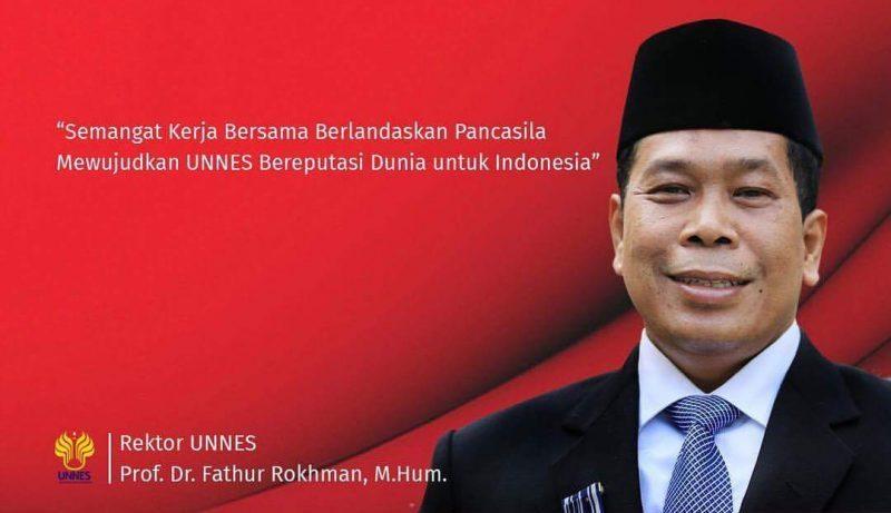 Ucapkan Selamat Kesaktian Pancasila, Rektor Wujudkan UNNES Bereputasi Dunia Untuk Indonesia