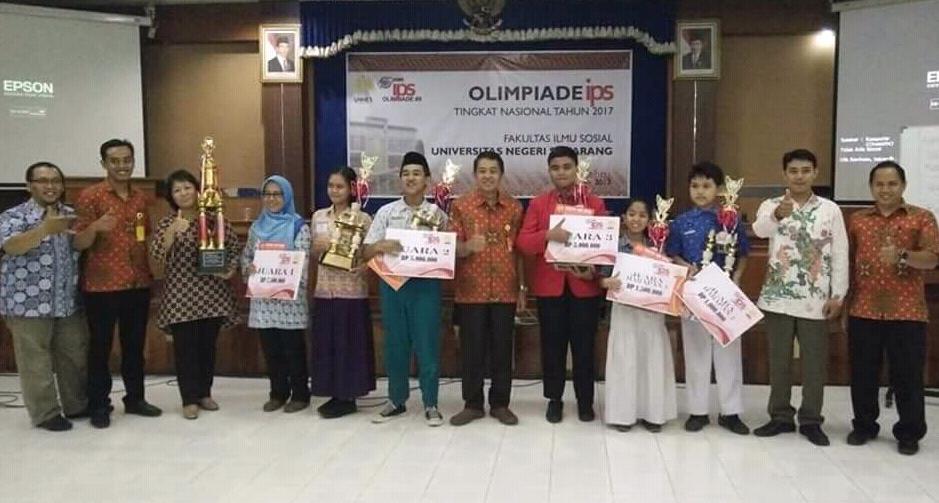 Olimpiade IPS di UNNES, SMP 2 Semarang Juara