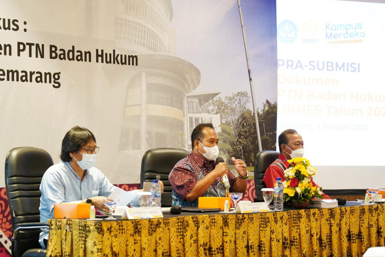 Diskusi Ilmiah Terfokus: Pra-Submisi Dokumen PTNBH UNNES