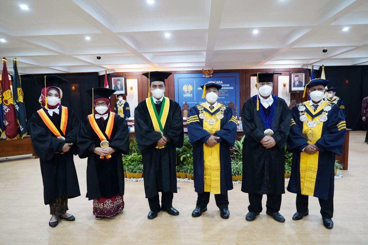 UNNES Kembali Kukuhkan Tiga Profesor Baru