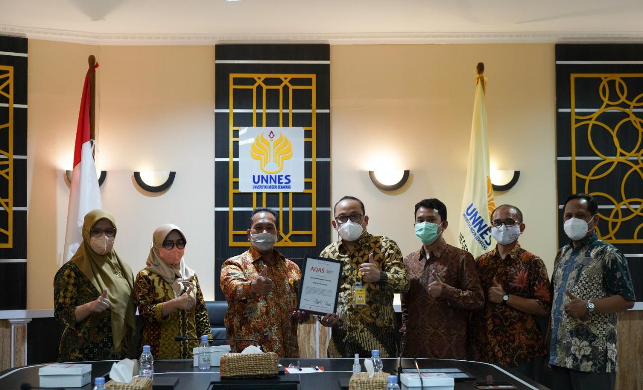 7 Prodi UNNES Tersertifikasi Akreditasi Internasional AQAS