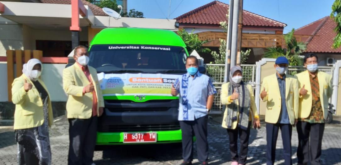 Majelis Profesor UNNES Serahkan Bantuan Peduli Banjir di Kudus  Pati Semarang dan Pekalongan