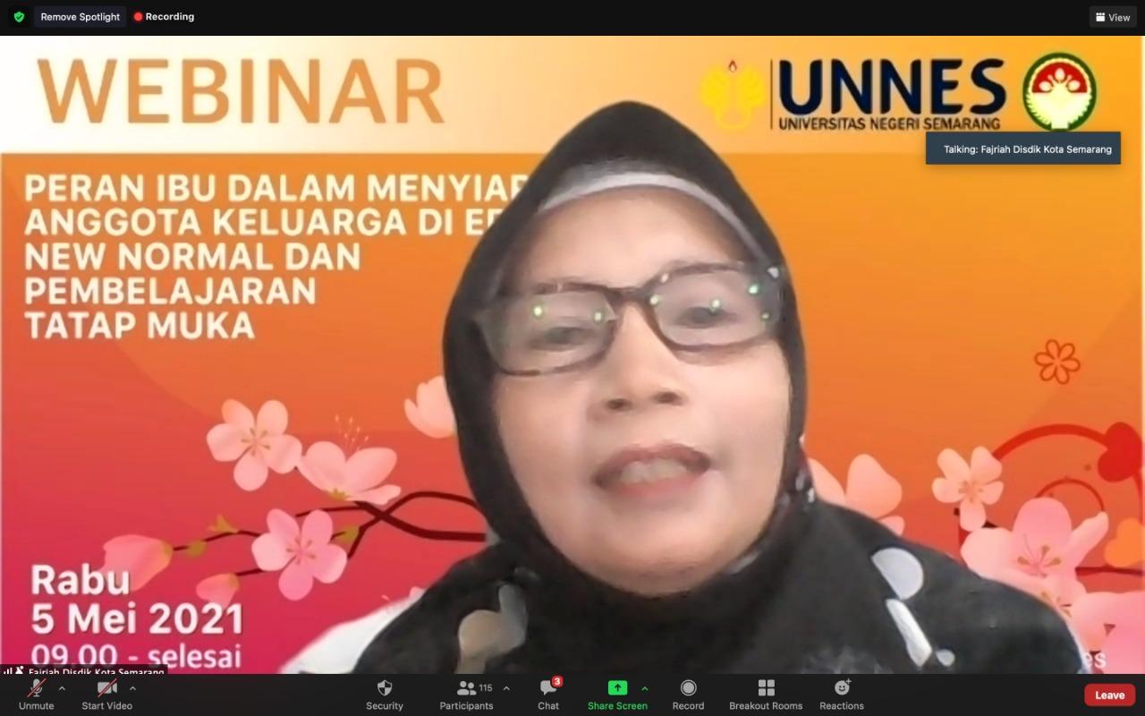 Peringati Hari Pendidikan, DWP UNNES Gelar Webinar Peran Ibu Di Era New Normal dan Pembelajaran Tatap Muka