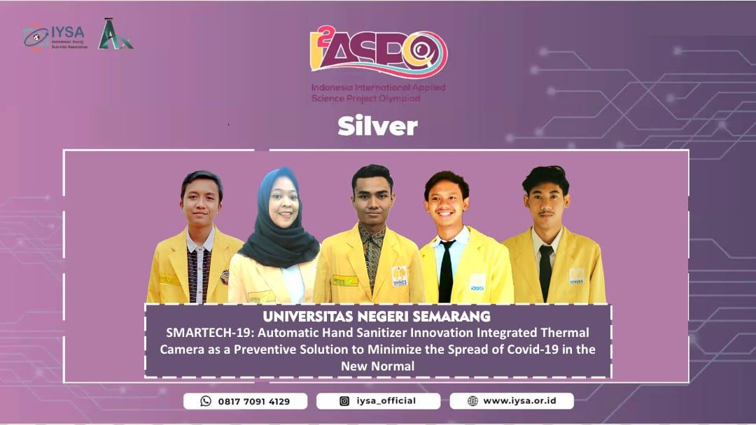 Kolaborasi Mahasiswa FT, FBS, dan FMIPA UNNES Raih Medali Perak