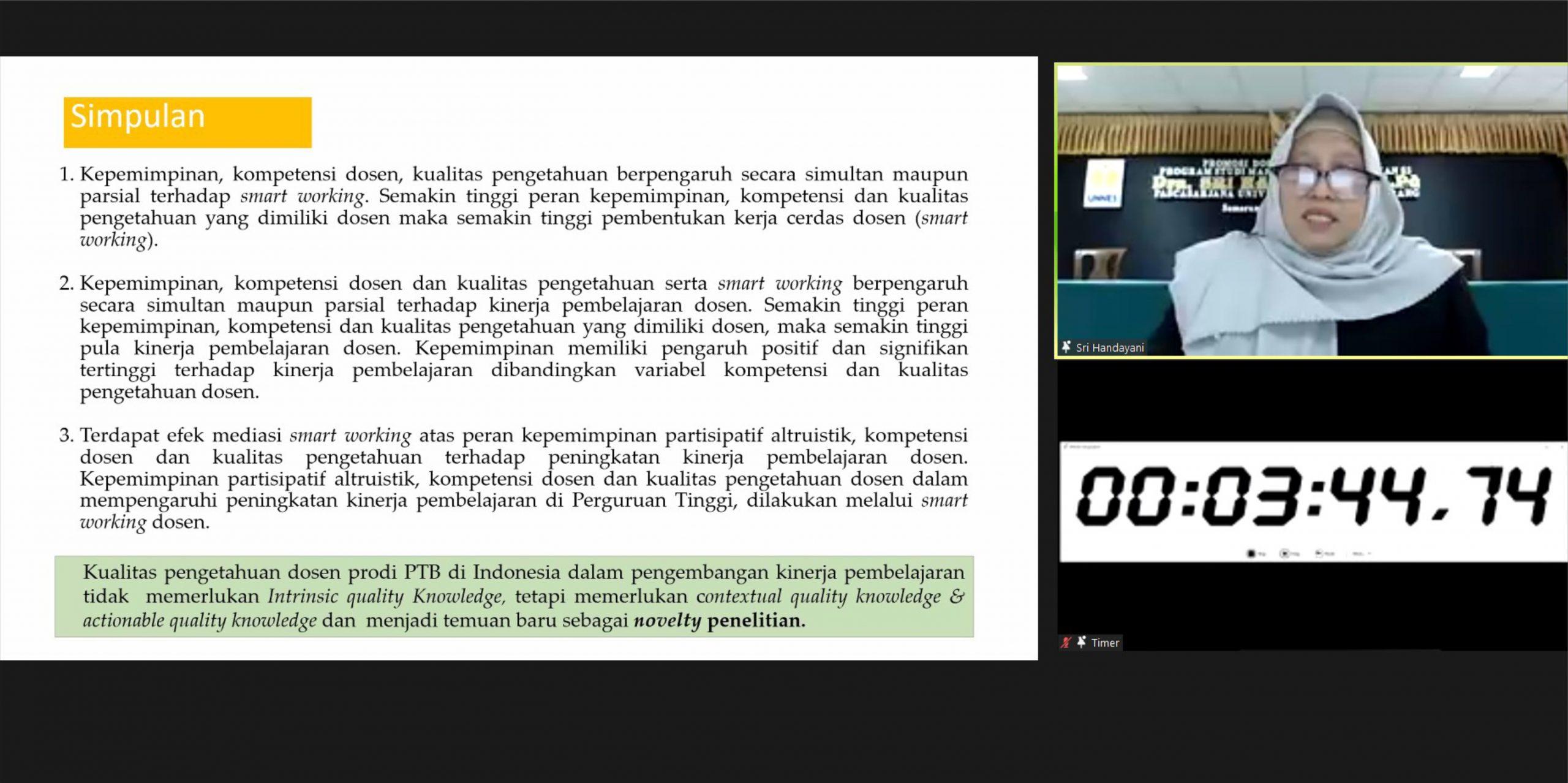 Teliti Kinerja Pembelajaran Dosen Prodi Pendidikan Teknik Bangunan di Perguruan Tinggi Seluruh Indonesia, Wakil Dekan II FT Raih Gelar Doktor
