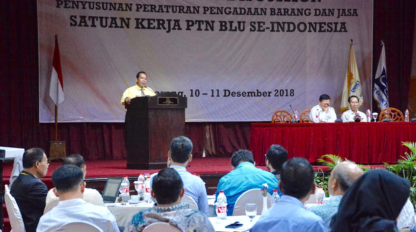UNNES Inisiasi FGD Penyusunan Peraturan Pengadaan Barang dan Jasa PTN BLU