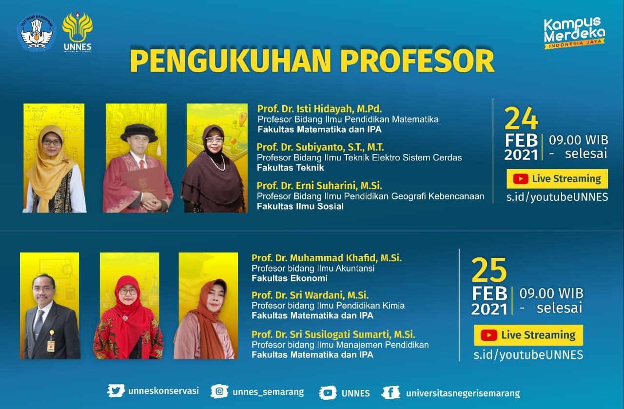 Perkuat Akademik, UNNES Akan Kukuhkan 6 Profesor