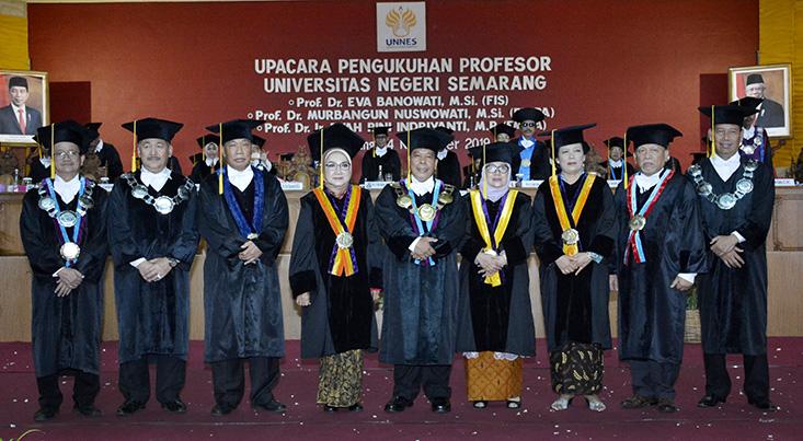 UNNES Tambah Tiga Profesor