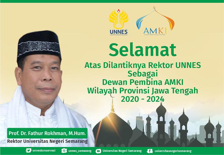 Rektor UNNES Dilantik Menjadi Dewan Pembina Asosiasi Masjid Kampus Indonesia