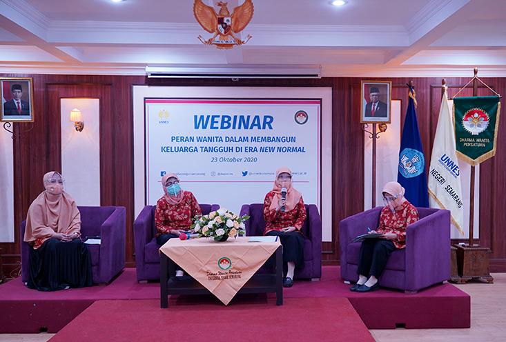 DWP UNNES Selenggarakan Webminar Peran Wanita Membangun Keluarga Tangguh