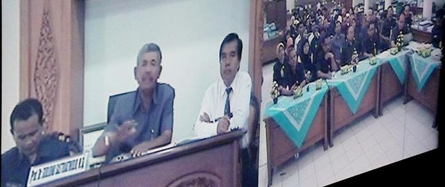 Dipimpin PR II, Rektor dan PGSD Rapat secara Telekonferensi