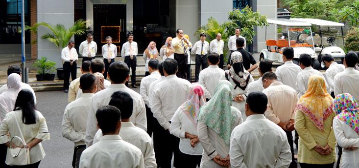 Apel Pagi, Prof Fathur: Ada Empat Hal untuk Tingkatkan Prestasi