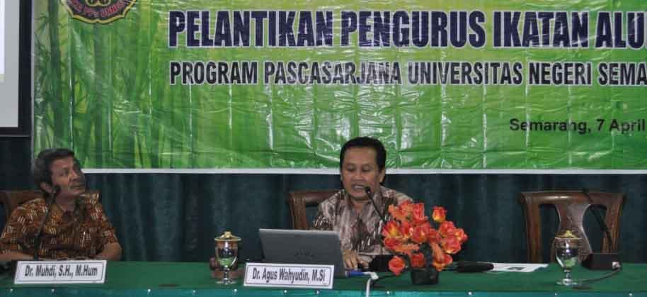 Pengurus Ikatan Keluarga Alumni PPs Unnes Dilantik