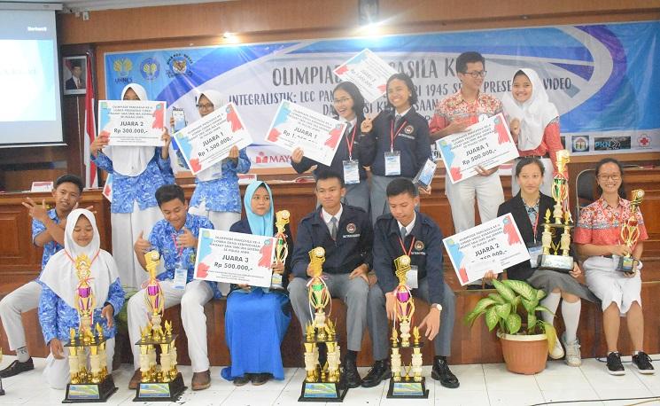Siswa Siswi SMA/SMK/MA se-Pulau Jawa Meriahkan Olimpiade Pancasila VI
