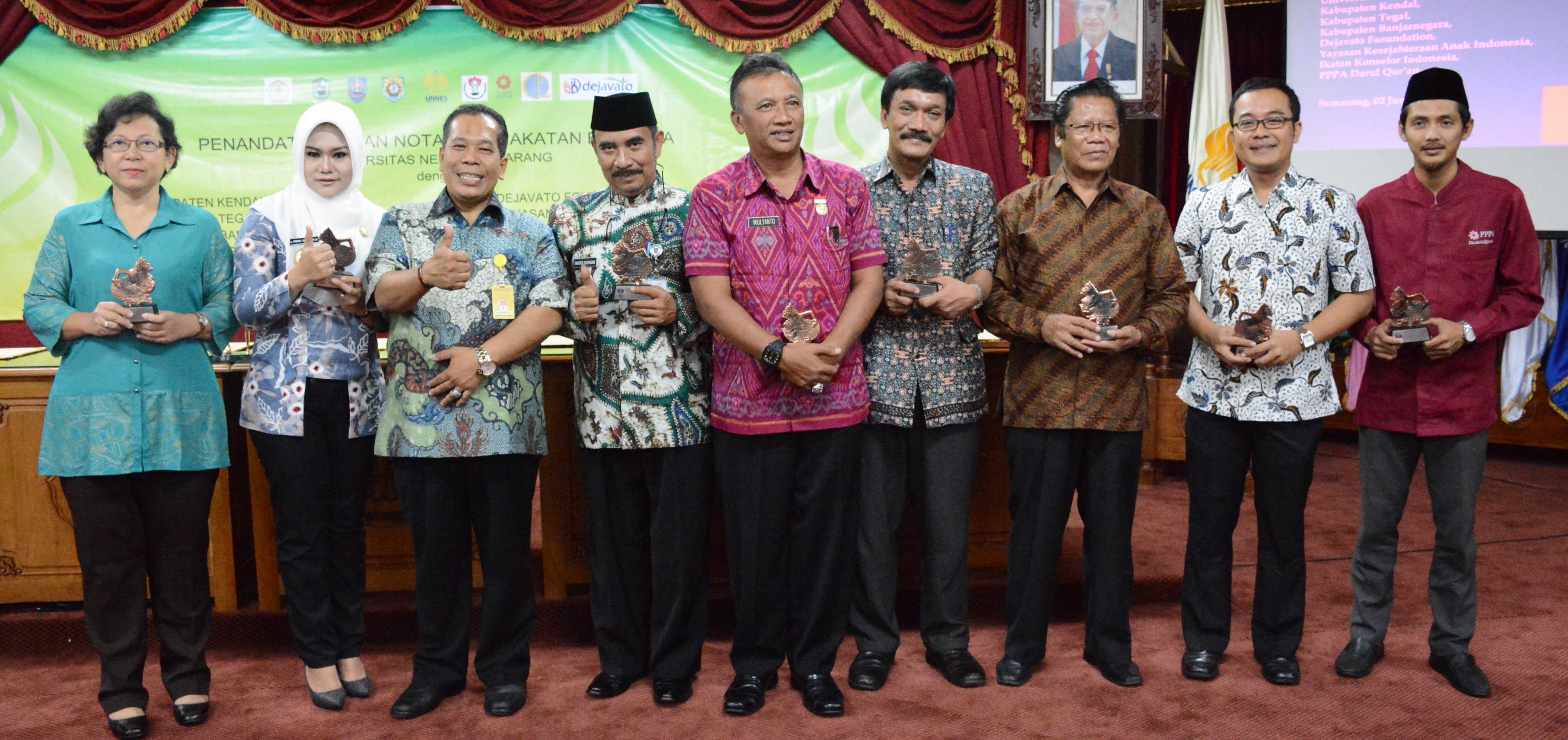 UNNES Jalin Kerjasama Dengan 3 Kabupaten