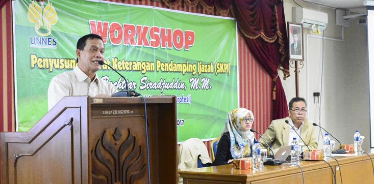 UNNES Menyelenggarakan Workshop Penyusunan SKPI