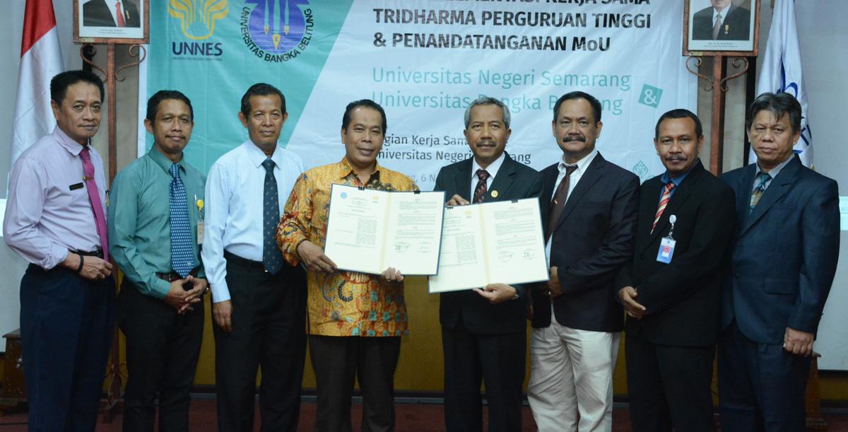 UNNES dan Universitas Bangka Belitung Perkuat Kerja Sama