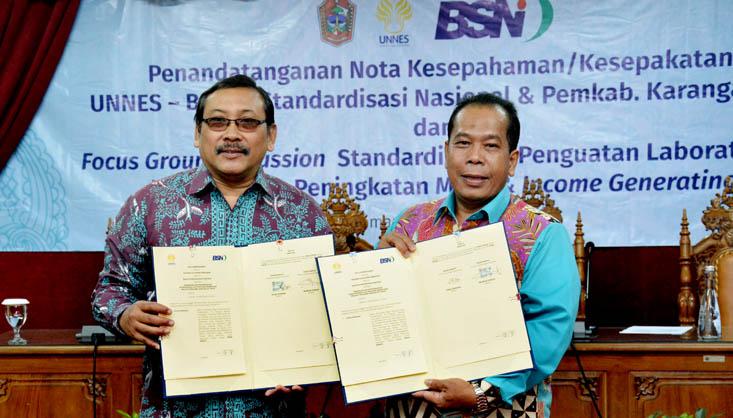 UNNES Jalin Kerjasama dengan Badan Standardisasi Nasional