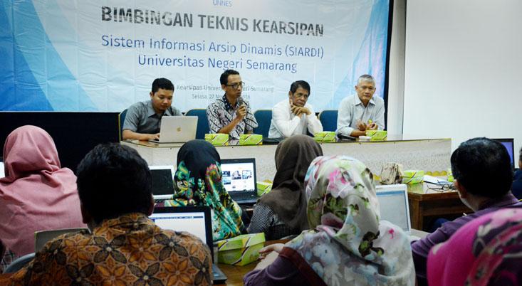 UPT Kearsipan UNNES Lakukan Bimtek Sistem Informasi Arsip Dinamis
