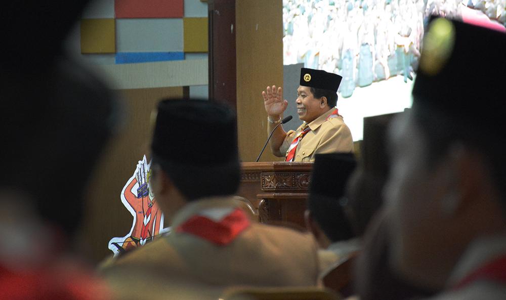 Rektor UNNES Sampaikan Ucapan Selamat Hari Pramuka ke 56