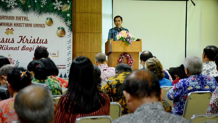 Perayaan Natal Paguyuban Kristiani UNNES Berlangsung Penuh Hikmat