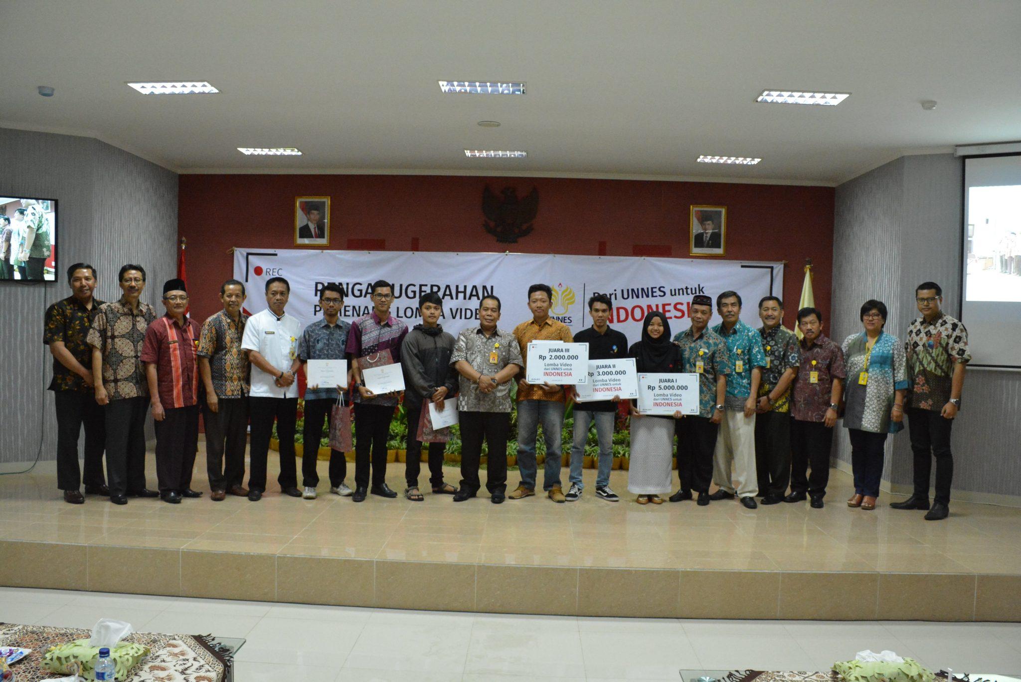 Puncak Penganugerahan Pemenang Lomba Video #dariUNNESuntukIndonesia
