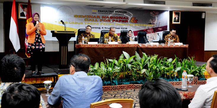 Kritisi Pemilu di Indonesia, FH UNNES Gelar Seminar Nasional
