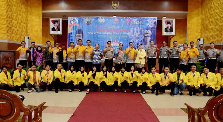 Ditlantas Polda Jateng Gelar Glorifikasi Millennial Road Safety Festival di UNNES