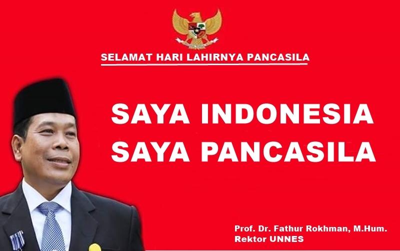 Rektor UNNES, Saya Indonesia Saya Pancasila