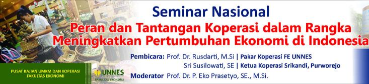 FE UNNES Akan Selenggarakan Seminar Nasional Koperasi
