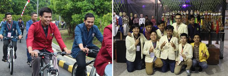 Mahasiswa dari Berbagai Universitas Diajak Bersepeda Keliling UNNES