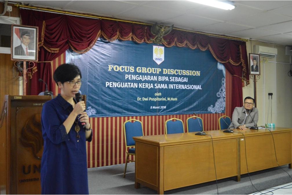 Perkuat Promosi Bahasa Indonesia untuk Penduduk Asing, UNNES Selenggarakan FGD BIPA