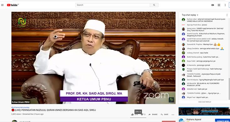 Peringatan Nuzulul Quran UNNES, Ketua PBNU Ajak Umat Tetap Produktif