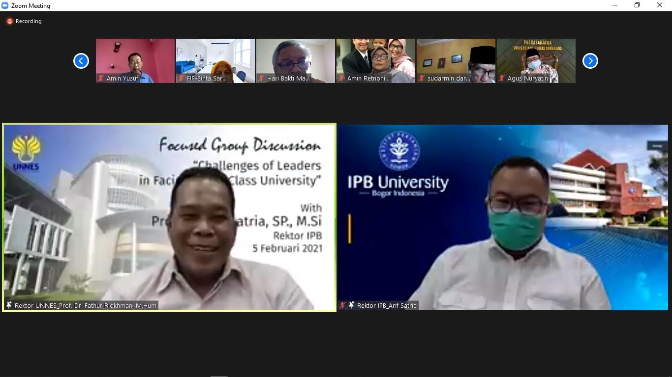 UNNES Selenggarakan FGD Kepemimpinan di Universitas Berkelas Dunia