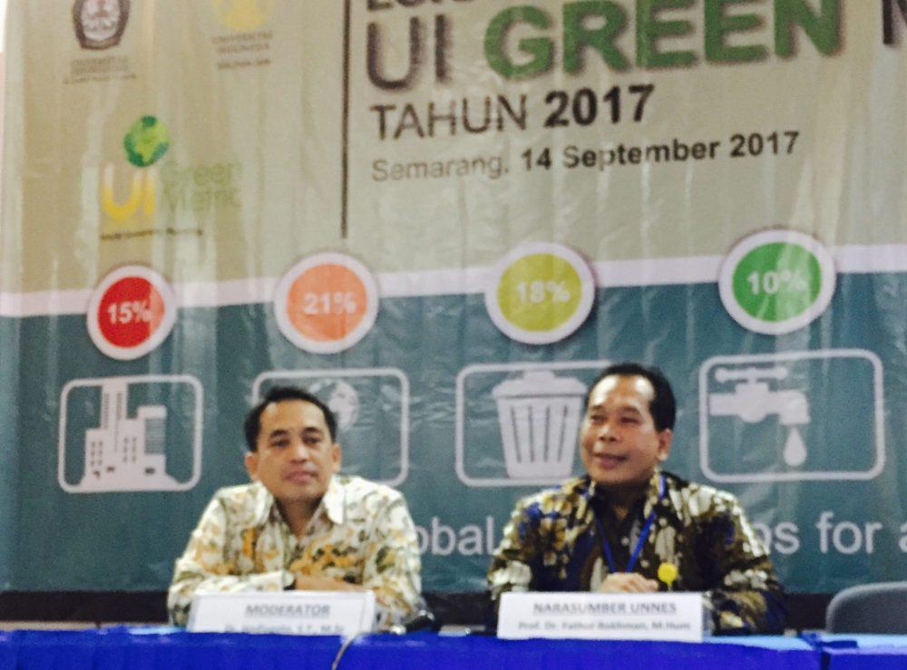 Rektor UNNES Pembicara Lokakarya Nasional Greenmetric
