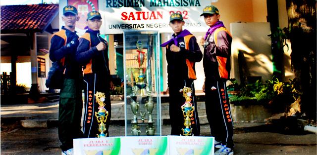 Menwa Unnes Juara Umum Lomba Lintas Medan di Malang