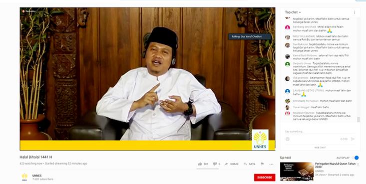Gus Yusuf Chudlori Memberi Selamat Para Imam Idul Fitri di Masa Pandemi