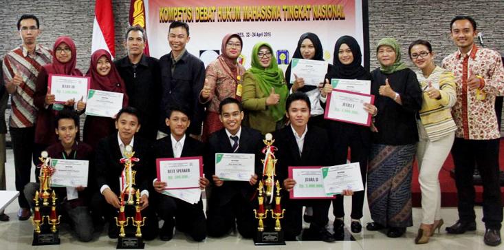 Debat Mahasiswa Hukum, Unhas Makassar Juara