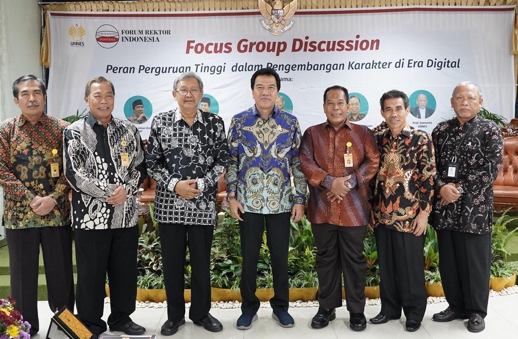 UNNES Menjadi Tuan Rumah FGD Forum Rektor Indonesia (FRI)