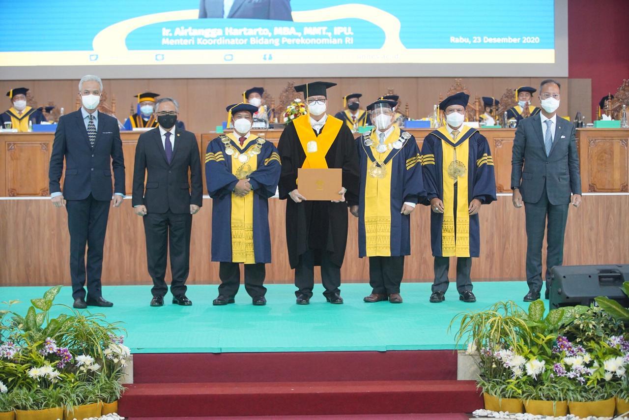 Penganugerahan Gelar kehormatan, Rektor UNNES: Airlangga Hartarto Nahkoda Penggerak Wushu Indonesia