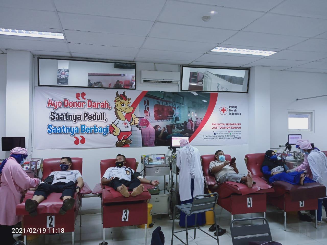Sambut Pengabdian Ke-13, PASPAMNES 2008 UNNES Gelar Aksi Donor Darah