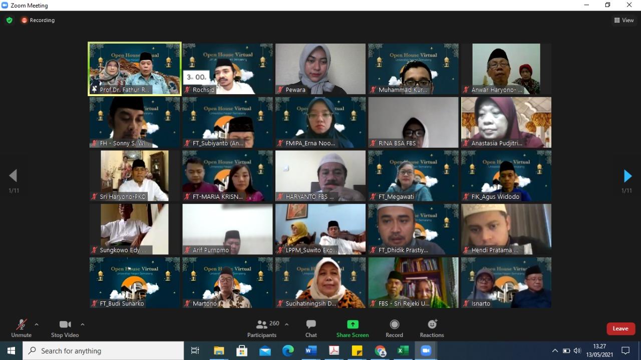 Gelar Silaturahmi Lebaran Virtual, Rektor: Pandemi Bukan Alasan Putusnya Silaturahmi