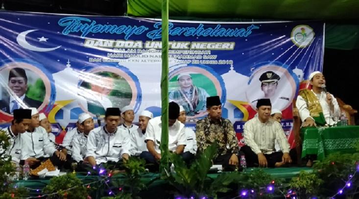Inisiasi Tinjomoyo Bersalawat 2018, Tim KKN Alt IIB UNNES Hadirkan Habib Umar