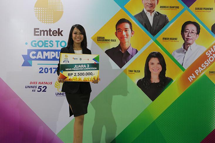 Riska Alfiana Juara III Lomba News Presenter EGTC UNNES 2017