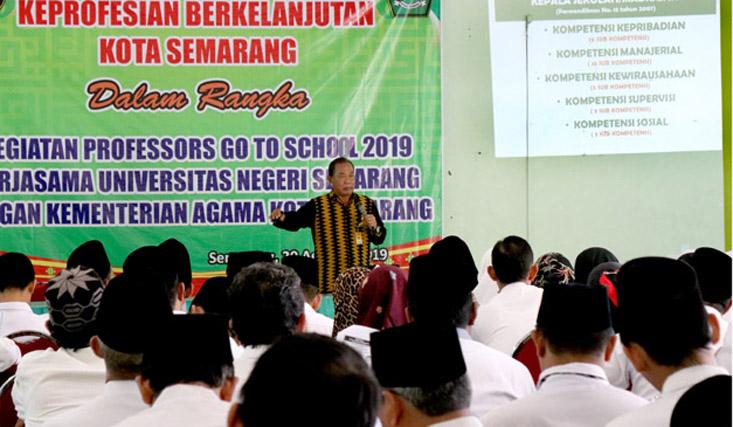 Prof Mungin: Kepala Madrasah Harus Perkuat Kompetensi