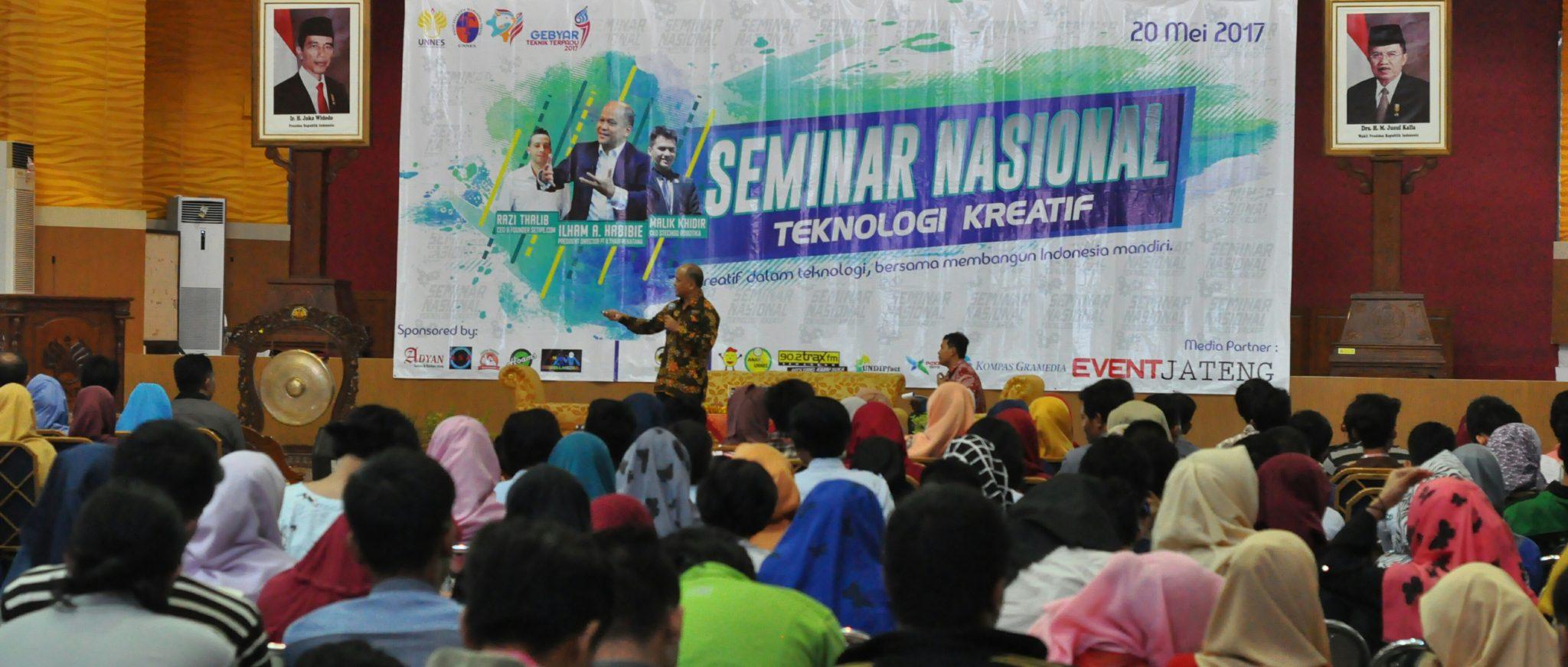 Tumbuhkan Motivasi Mahasiswa, FT UNNES Gelar Seminar Nasional Teknologi Kreatif