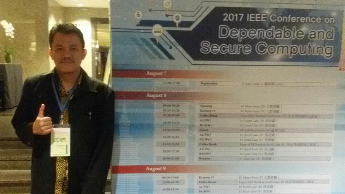 Dosen FMIPA Menjadi Pembicara Konferensi IEEE di Taiwan